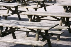 Wooden benches Royalty Free Stock Photography