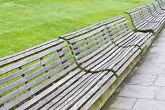 Wooden benches Royalty Free Stock Images
