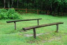 Wooden benches Royalty Free Stock Photos