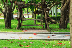 Wooden benches Stock Image