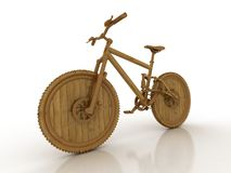 Wooden bicycle Royalty Free Stock Images