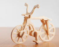 Wooden bicycle toy Royalty Free Stock Images