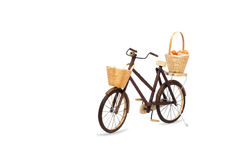 Wooden bicycle toy Royalty Free Stock Image