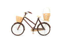 Wooden bicycle toy Royalty Free Stock Photo