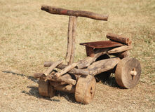 Wooden bicycle toy Royalty Free Stock Photography