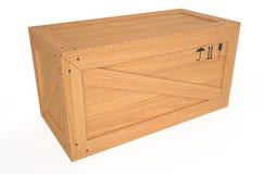Wooden big box Stock Photo