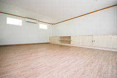 Wooden big empty room Royalty Free Stock Photos