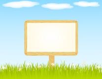 Wooden Bilboard Stock Image