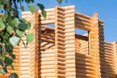 Wooden bilding from timber Stock Photos