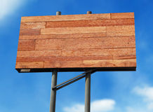 Wooden billboard Royalty Free Stock Photography