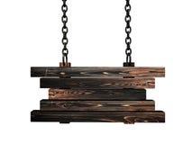 Wooden billboard Stock Images