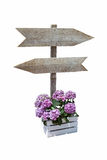 Wooden billboard with directional signs Royalty Free Stock Photos