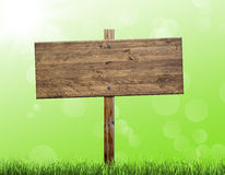 Wooden billboard Royalty Free Stock Images