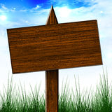 Wooden billboard sign Stock Images