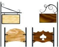 Wooden billboards Stock Image