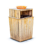 Wooden bin Royalty Free Stock Photo