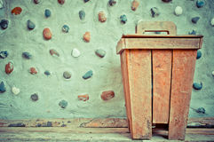 Wooden bin Stock Images