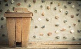 Wooden bin Stock Photo