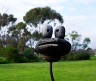 Wooden Bird. The head of a wooden bird at a McLaren Vale winery (Adelaide, Australia royalty free stock images