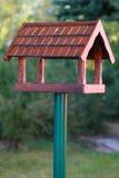 Wooden bird box. Empty wooden bird box - hand made Royalty Free Stock Photos