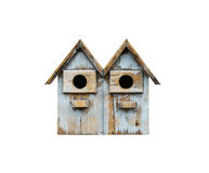 Wooden bird cage isolated Stock Photography