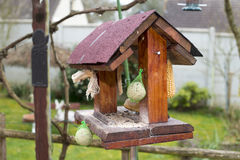 Wooden bird feeder Royalty Free Stock Photography