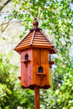 Wooden bird house Royalty Free Stock Photos