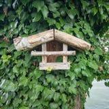 wooden bird house stock photography