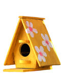 Wooden bird house. Isolated on white background stock images