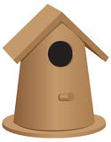 Wooden bird house oval shape Royalty Free Stock Photography