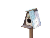 Wooden Bird House Stock Photo
