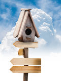 Wooden bird house Royalty Free Stock Photo