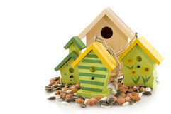 Wooden bird houses Stock Image