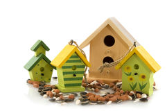 Wooden bird houses Stock Photography