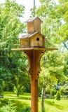 Wooden bird nest Stock Images