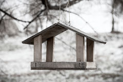 Wooden Bird Shelter Royalty Free Stock Photography