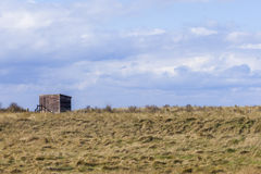 Wooden Bird Watching Hut Spurn Point Royalty Free Stock Photos