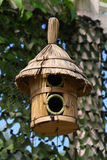 wooden birdhouse in the forest and park Stock Photos