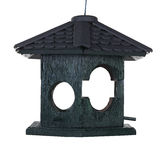 Wooden birdhouse isolated Stock Photo
