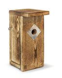 Wooden birdhouse isolated royalty free stock photos