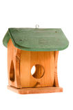 Wooden birdhouse isolated on the white Royalty Free Stock Image