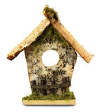 Wooden birdhouse isolated on the white background Stock Photos