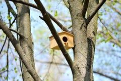Wooden birdhouse Royalty Free Stock Photos