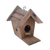 Wooden birdhouse. Royalty Free Stock Photography