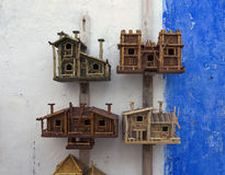 Wooden birdhouses Stock Photo