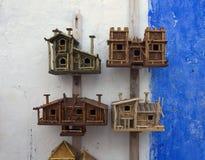 Wooden birdhouses Stock Photo