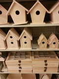 Wooden birdhouses Stock Photos