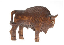Wooden bison figure Stock Image