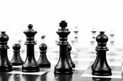 Wooden Black Chess Piece Stock Images