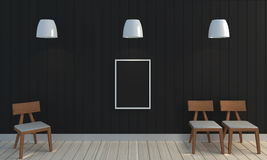 Wooden black color wall background. Stock Photo